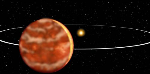 Artist's rendition of brown dwarf system