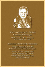 Frederick C. Gillett plaque